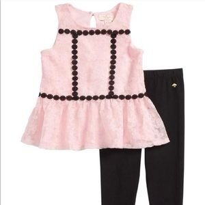 NWT Girl's Kate Spade Matching Outfit Set
